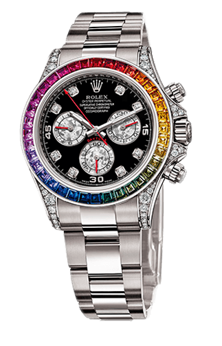Часы Rolex White Gold Daytona Rainbow в Абае