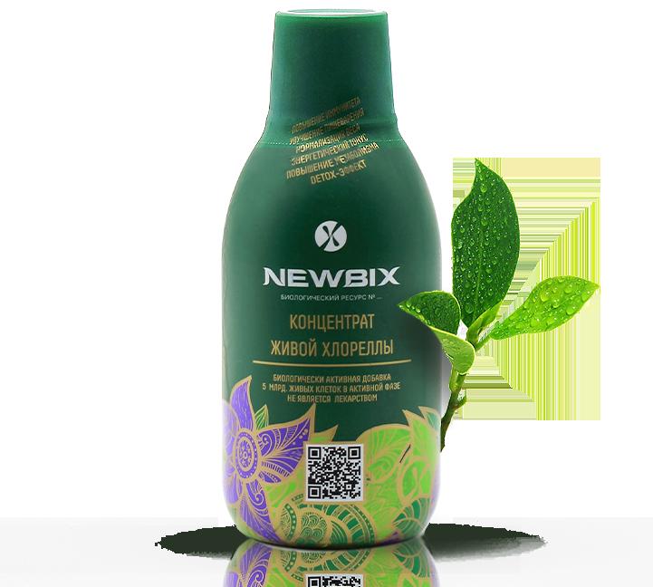 Напиток с живой хлореллой NEWBIX купить