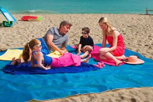 Пляжная подстилка ClapSand (Magic Sand Mat) пропускающая песок купить