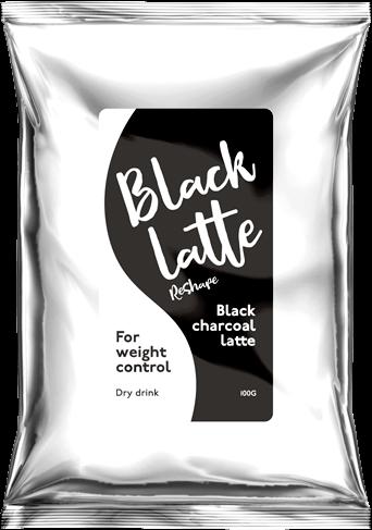 Угольный латте Black Latte для похудения
