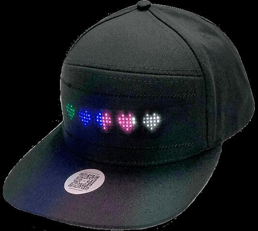 Светодиодная кепка Pix с LED-экраном купить