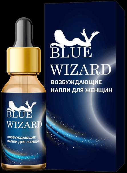 Возбуждающие капли Blue Wizard для женщин купить в Абакане