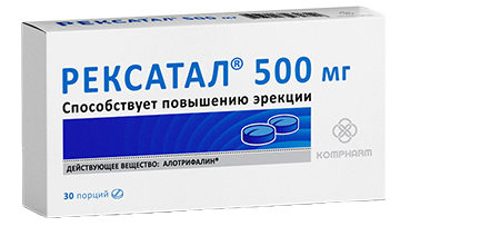 Капсулы Рексатал для потенции 500мг купить в Елово