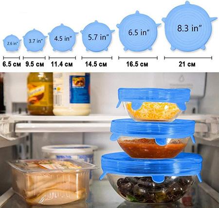 Растягивающиеся силиконовые крышки SENILAR для посуды купить