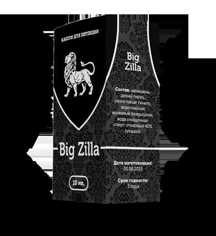 Капли Big Zilla для потенции купить в Абакане