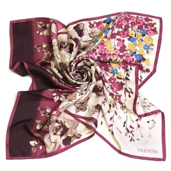 Шелковые платки от Valentino и Kenzo купить
