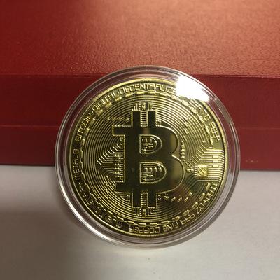 Позолоченная Bitcoin монета купить в Абае
