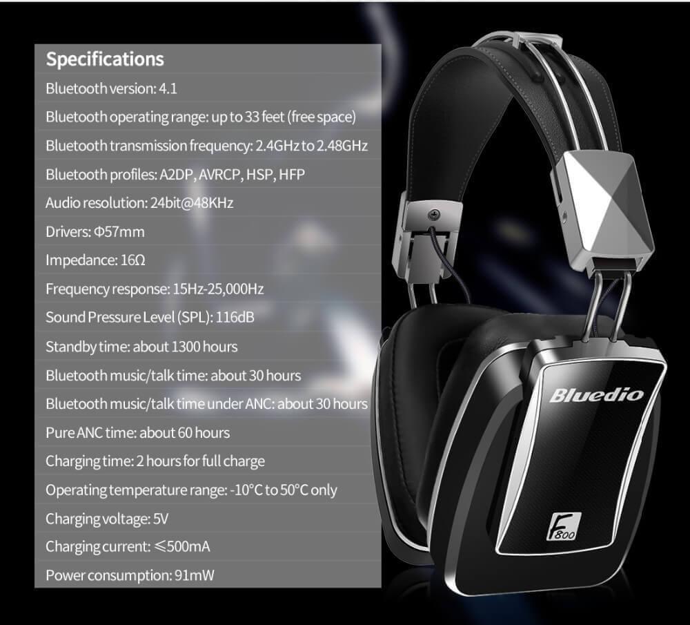 Беспроводные bluetooth наушники Bluedio F800 купить