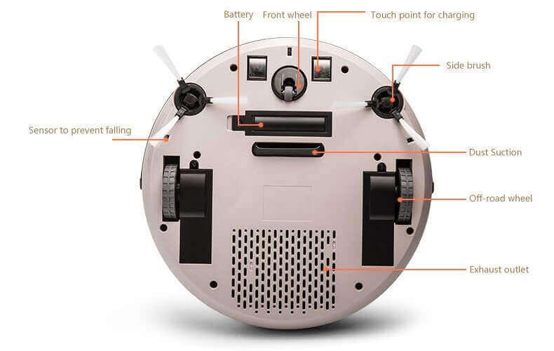 Робот-пылесос самозаряжающийся с пультом V-M611 PUPPYOO купить